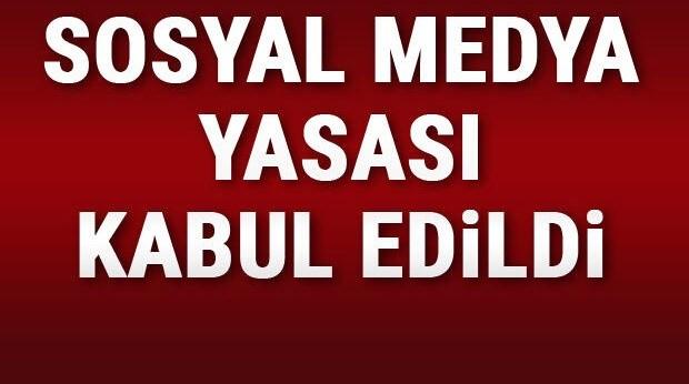 Sosyal medya yasası kabul edildi Urfa Haber