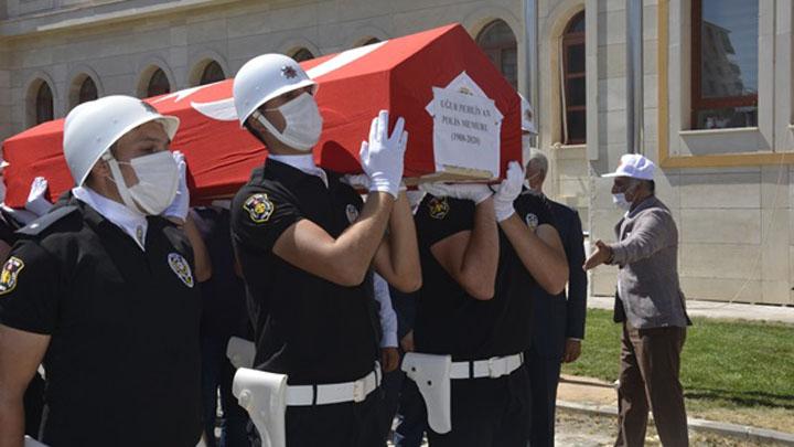 SİVEREK'TE HAYATINI KAYBEDEN POLİS MEMURU DÜZENLENEN TÖRENLE MEMLEKETİNE UĞURLANDI