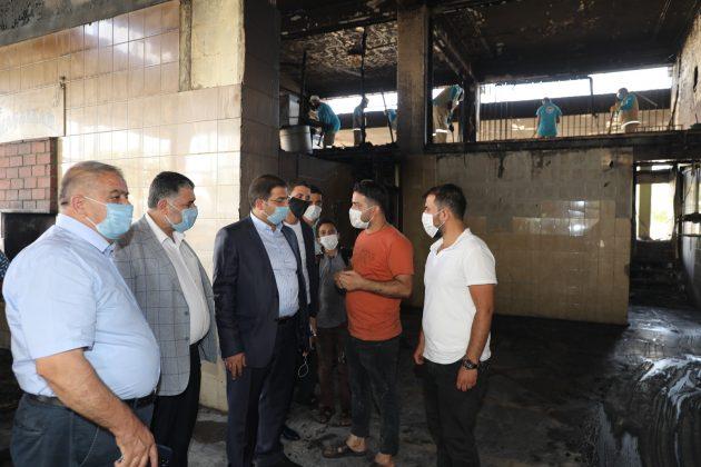 Başkan Canpolat yangın sonrası incelemelerde bulundu Urfa Haber