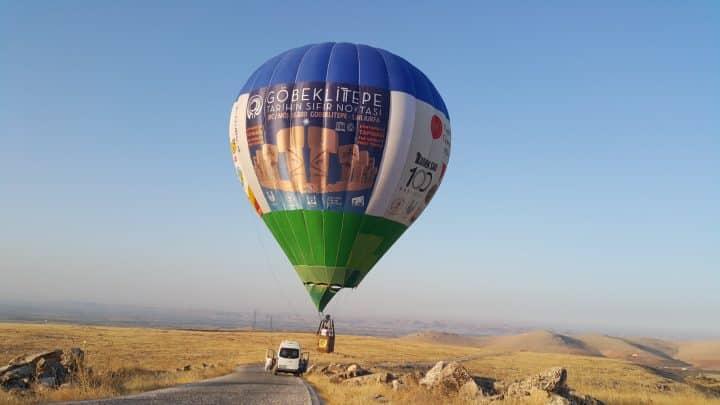 Göbeklitepe'de sıcak hava balonunun tanıtım uçuşu yapıldı Urfa Haber