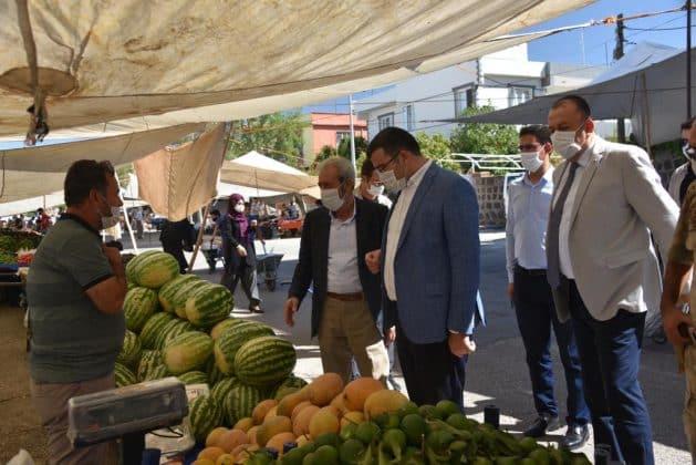 Başkan ve Kaymakam korona virüs için denetime çıktı Urfa Haber