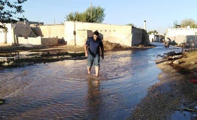Suruç'ta bir köy sular altında Urfa Haber