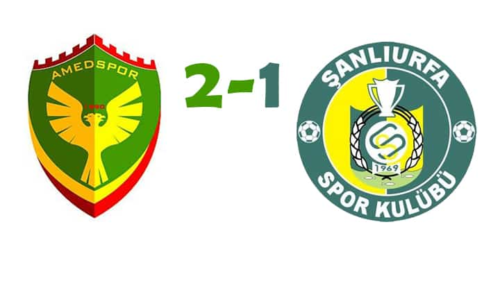 Şanlıurfaspor, Amedspor karşısında 2-1 mağlup oldu Urfa Haber