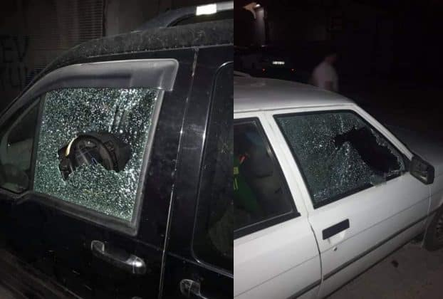 Araba camlarını tek tek kırdılar! Urfa Haber