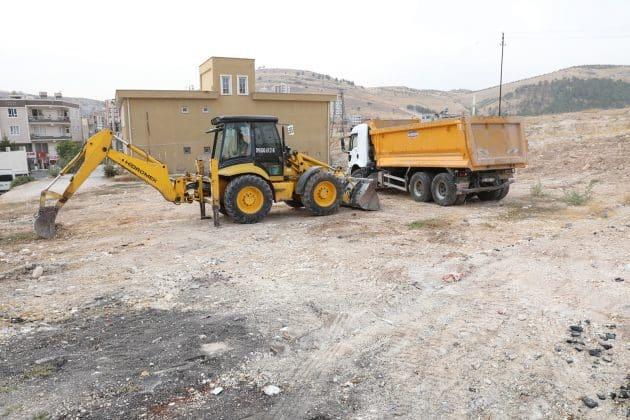 Devteştide semt sahası çalışmaları başladı Urfa Haber