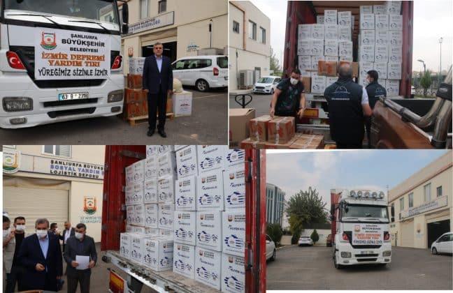 Büyükşehir Belediyesinden İzmir'e Yardım Urfa Haber