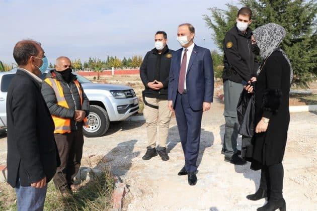 Vali Erin, Şehitlik Parkında İncelemelerde bulundu Urfa Haber