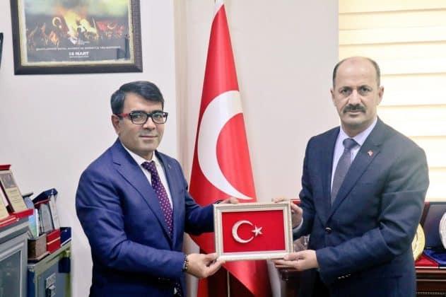 Suruç Emniyet Müdüründen, Başkan Yavuz'a veda ziyareti Urfa Haber