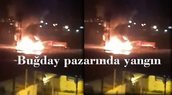 Buğday pazarında yangın Urfa Haber