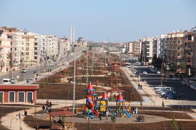 Viranşehirdeki kent parkında sona gelindi