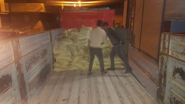 Tam 22 ton  sahte gübre yakalandı