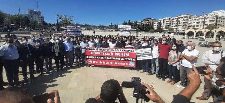 Şanlıurfa Deva Partisinden, işten atılan Fabrika işçilerine destek